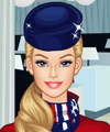 Barbie Stewardess Flies Dress Up Game