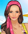 Vacation on Beach Dress Up Game