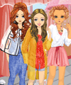 Girls in the Rain Dress Up Game