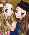 Two Young Girls Dress Up Game