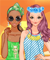 Summer Sunset Dress Up Game