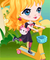 Scooter to School Dress Up Game