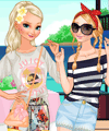 Frozen Sisters Island Resort Dress Up Game
