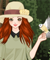The Girl and the Birds Dress Up Game