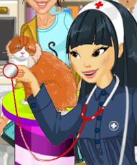 Veterinary Clinic Vet Volunteer Dress Up Game
