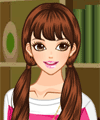 Girl in Reading Room Dress Up Game