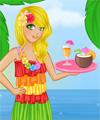 Tiki Cafe Waitress Dress Up Game