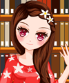 Girl in Library 2 Dress Up Game