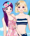 Beach Friends Dress Up Game