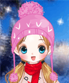 Girl on Skis Dress Up Game