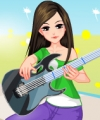 Soft Guitar Girl Dress Up Game
