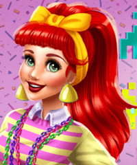 Ariel 80s Diva Dress Up Game
