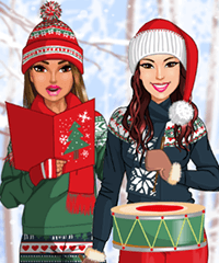 Carolling Friends Dress Up Game