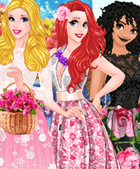 Princesses First Summer Ball Dress Up Game