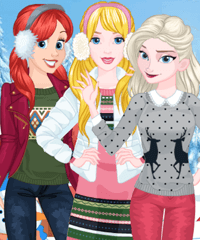 Princess Winter Spree Dress Up Game