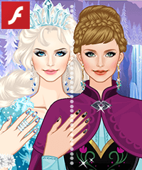 Frozen Fashion Makeover Dress Up Game