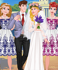 Princess College Campus Wedding Dress Up Game