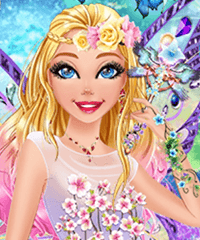 Barbie Fairy of the Wood Dress Up Game