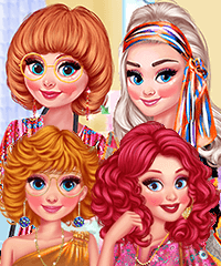 Princesses Back to 70s Dress Up Game