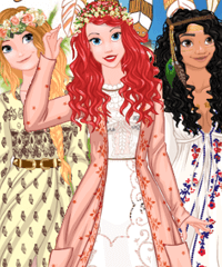Princess Coachella Inspired Wedding Dress Up Game