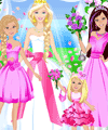 Barbie Wedding Party Dress Up Game