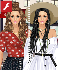 Vintage Button Dress Up Game
