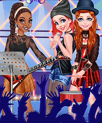 Princesses Rock Band Dress Up Game