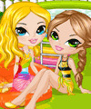 Swimming Pool Friends Dress Up Game