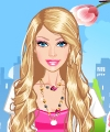 Barbie Dotted Dresses Dress Up Game