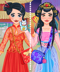 Chinese New Year Fortune Cookie Dress Up Game