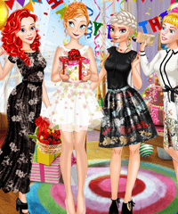 Princess Birthday Party Surprise Dress Up Game