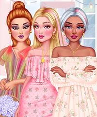 Girls Pink Crush Dress Up Game