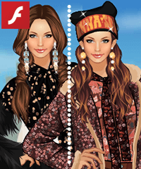 Winter Bohemian Dress Up Game
