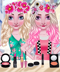 Elsa Flower Crown Make Up Game