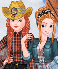 Princesses Country Style Dress Up Game