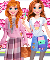 Princess Yearly Seasons Hashtag Challenge Dress Up Game