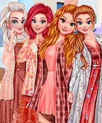 Princesses Summer Waves Dress Up Game