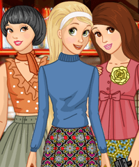Princess Seventies 70s Dress Up Game