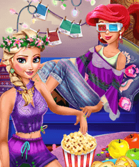 Princess Movie Night Fun Game
