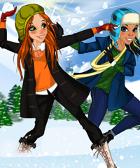 Snowball Fight Dress Up Game