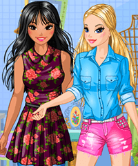 Flea Market Friends Dress Up Game