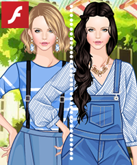 Summer Blues Dress Up Game