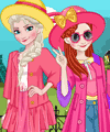 Elsa and Anna Polaroid Dress Up Game