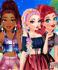 Disney Princesses Summer Braids Dress Up Game