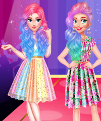 Influencers Colorful Fashion Dress Up Game