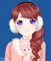 Girl Loves Winter Dress Up Game
