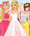 Barbie Wedding Selfie with Princesses