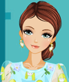 Organza Embroidered Style Dress Up Game