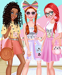 Pastel Crush Girls Dress Up Game