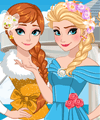 Elsa and Anna Bridesmaid Dresses Dress Up Game